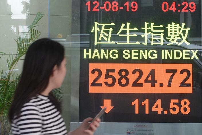 การออกรางวัลหวยหุ้นฮั่งเส็ง ออกตามหุ้นฮ่องกง ชื่อ Hang Seng Index